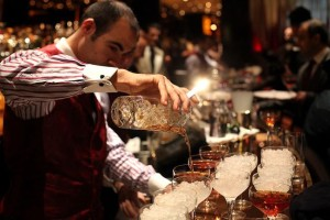 Pouring Manhattans at Dorchester