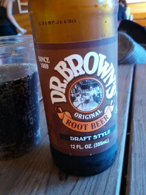 Dr Brown's Root Beer.